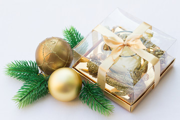 Gold and Green Christmas Decoration