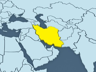 Map of worlds. Iran.
