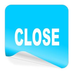 close blue sticker icon