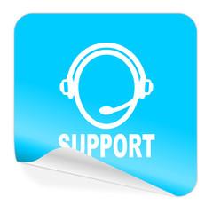 support blue sticker icon