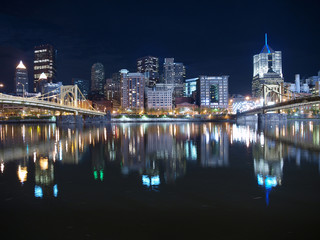 Pittsburgh Downtown Night