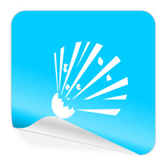 bomb blue sticker icon