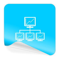 network blue sticker icon