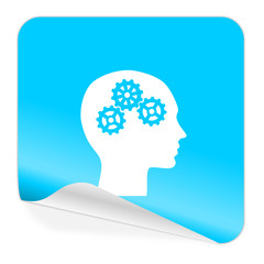 head blue sticker icon