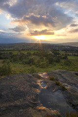 Norland moor sunset