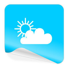 cloud blue sticker icon