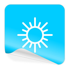 sun blue sticker icon