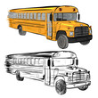 Riding school buses - 68734092