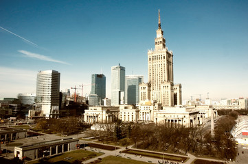 palace of culture and science landmark of Warsaw