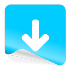 download blue sticker icon