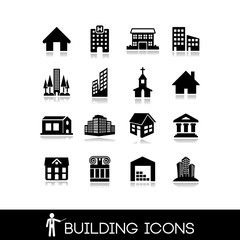 Building Icons Set.