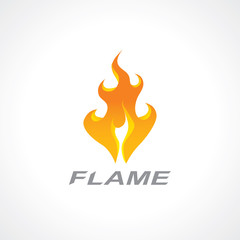flaming fire