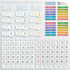 Infographics Design Material Calendar 2015