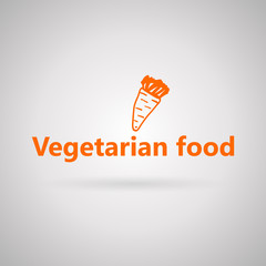 Illustration with icon for vegetarian food.