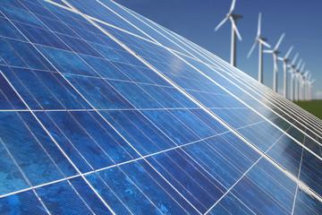 Energiemix Sonne und Wind
