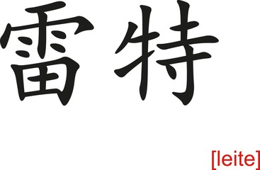 Chinese Sign for leite
