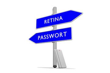 Passwort >>> Retina / Konzept Sicherheit