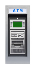 ATM banking machine, isolated