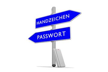 Passwort >>> Handzeichen / Konzept Sicherheit