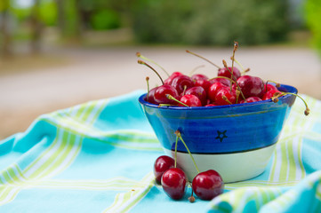 Bowl fresh cherries