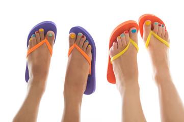 Summer feet with flip flops