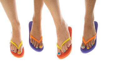 Summer feet with flip flops