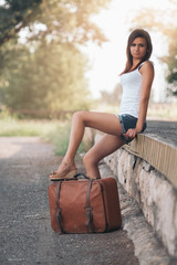 Beautiful traveller girl