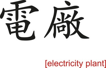 Chinese Sign for electricity plant