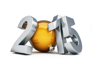 happy new year 2015 3d Illustrations on a white background