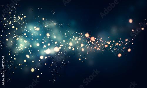 Leinwandbild Motiv glittering stars on dark background