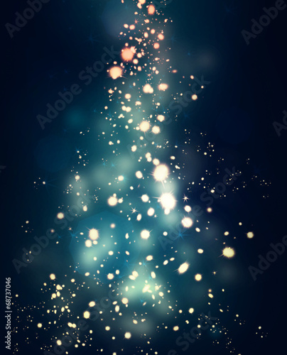 Leinwandbild Motiv sparkles glowing in the dark