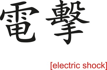 Chinese Sign for electric shock
