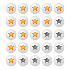 Star rating from stars in balls, spheres