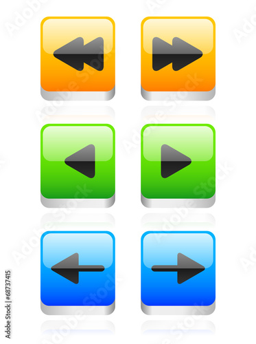 Arrow button set