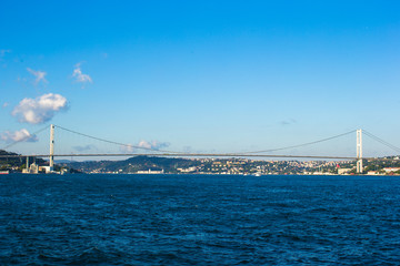 Fatih Sultan Mehmet Bridge over the Bosphorus strait in Istanbul