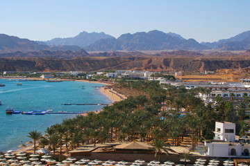 Beautiful view of resorts in Sharm el Sheikh