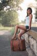 Beautiful traveller girl