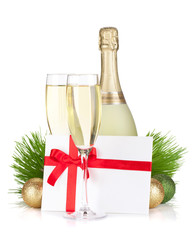 Champagne and gift letter