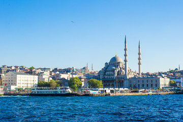 View of the old town and beautiful mosque in Istanbul