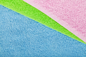 Colorful towels background