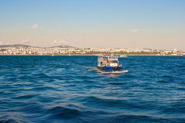 Small ship in Bosporus Strait