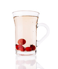 Single Glass Cup With Briar Tea