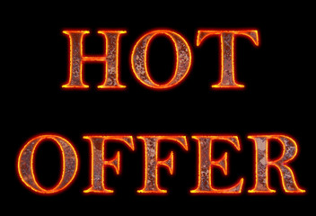 Burning hot offer text
