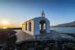 Leinwanddruck Bild - White Church By Sunrise In Crete