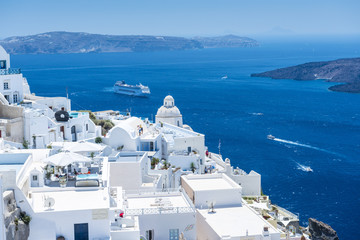 Beautiful View From Fira, Santorini, Greece