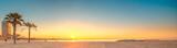Fototapety Barceloneta Beach in Barcelona at sunrise