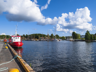 Port channel in Friedrikstad, Norway