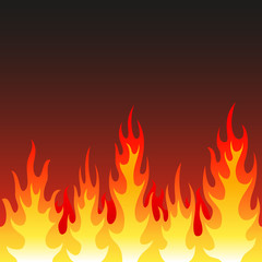 Seamless fire, flame background