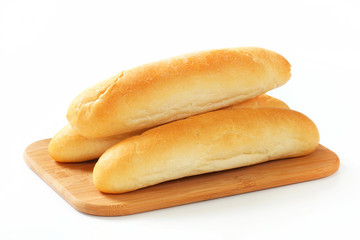 White bread rolls