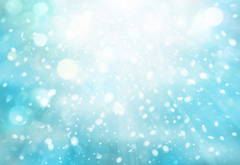 Snowfall bokeh background.